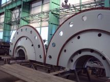 Turbine cover for hydroelectric power plant, max. power 108 MW